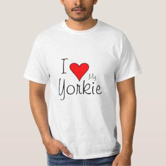 I heart my yorkie t-shirt