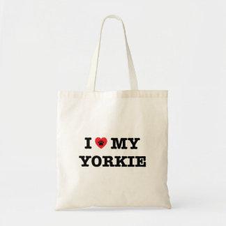 I Heart My Yorkie Tote Bag
