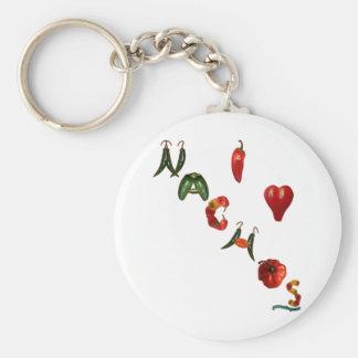 I Heart Nachos Basic Round Button Key Ring