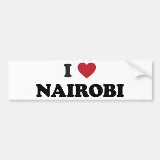 I Heart Nairobi Kenya Bumper Sticker