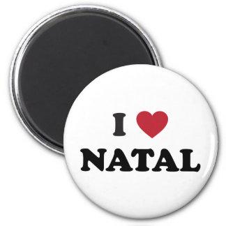 I Heart Natal Brazil 6 Cm Round Magnet