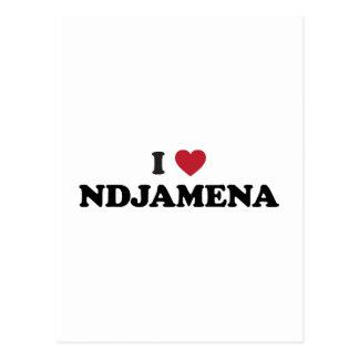 I Heart NDjamena Chad Postcard