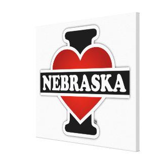 I Heart Nebraska Gallery Wrapped Canvas