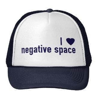 I Heart Negative Space Trucker Hat