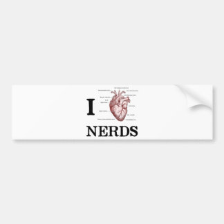 I Heart Nerds Bumper Sticker
