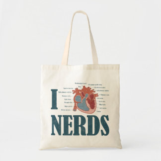 I Heart NERDS Tote Bag