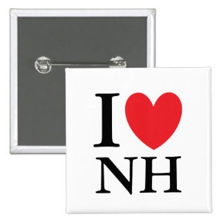 I Heart New Hampshire 15 Cm Square Badge