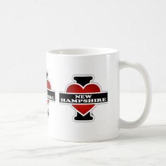 I Heart New Hampshire Basic White Mug