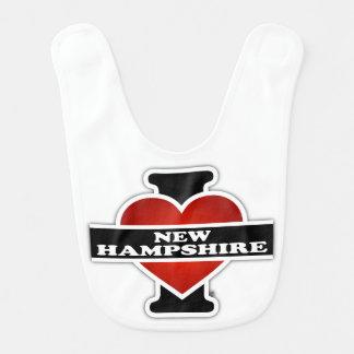 I Heart New Hampshire Bib
