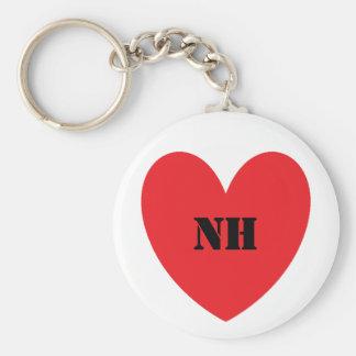 I Heart New Hampshire Keychain Basic Round Button Keychain
