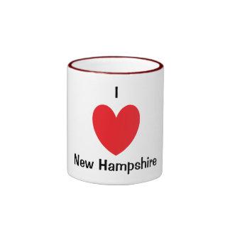 I Heart New Hampshire Mug Ringer Mug