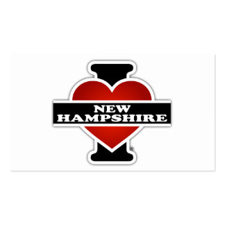 I Heart New Hampshire Pack Of Standard Business Cards