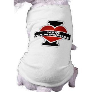 I Heart New Hampshire Sleeveless Dog Shirt