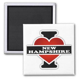I Heart New Hampshire Square Magnet