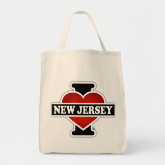 I Heart New Jersey Grocery Tote Bag