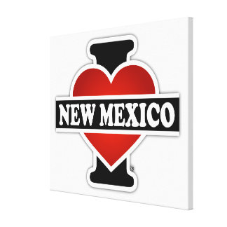 I Heart New Mexico Stretched Canvas Print