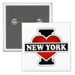 I Heart New York 15 Cm Square Badge