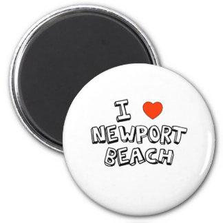 I Heart Newport Beach 6 Cm Round Magnet
