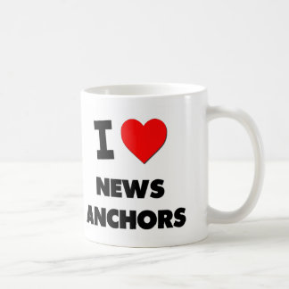 I Heart News Anchors Coffee Mugs