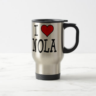 I Heart NOLA Stainless Steel Travel Mug