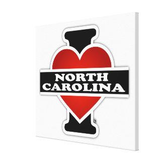 I Heart North Carolina Canvas Prints