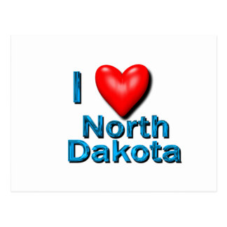 I Heart North Dakota Postcard