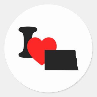 I Heart North Dakota Sticker