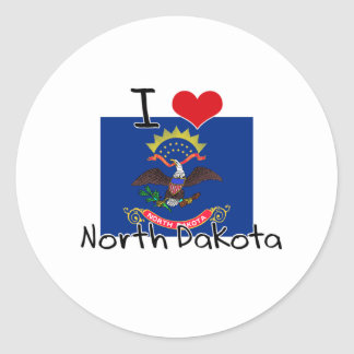 I HEART NORTH DAKOTA STICKERS