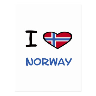 I Heart Norway Postcard