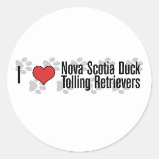 I heart Nova Scotia Duck Tolling Retrievers Sticker