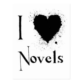 I Heart Novels Post Card