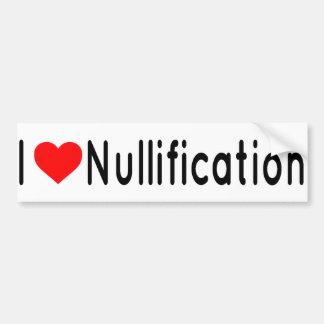 I heart nullification bumper sticker