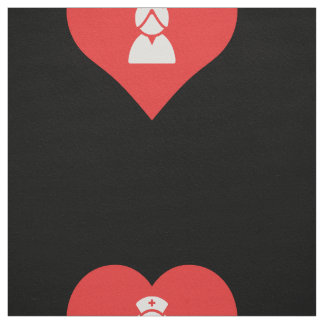 I Heart Nurse Uniforms Icon Fabric