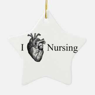 I Heart Nursing Christmas Ornament
