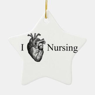 I Heart Nursing Christmas Ornament
