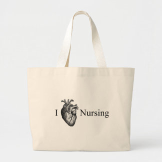 I Heart Nursing Large Tote Bag