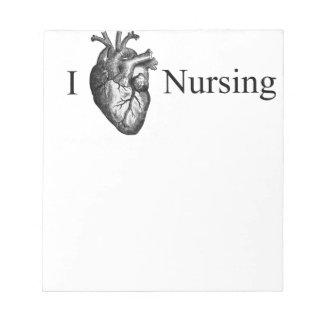 I Heart Nursing Notepad