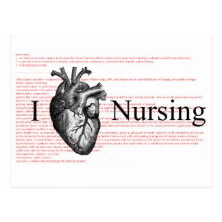 I Heart Nursing Postcard