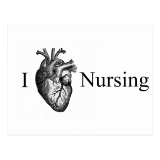 I Heart Nursing Postcard