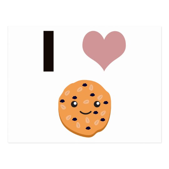 I heart Oatmeal Cookies Postcard