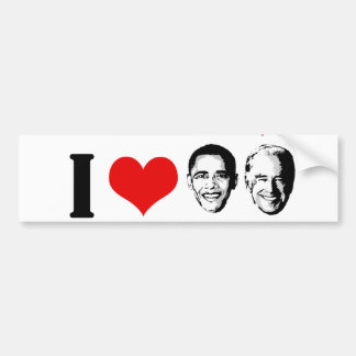 I HEART OBAMA BIDEN CAR BUMPER STICKER