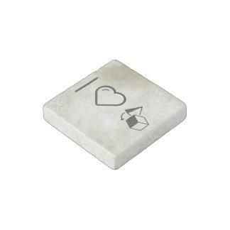I Heart Objects Stone Magnet