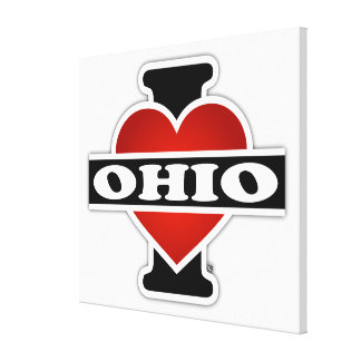 I Heart Ohio Canvas Prints