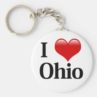 I Heart Ohio Key Ring