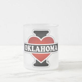 I Heart Oklahoma Frosted Glass Mug