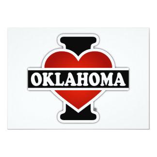 I Heart Oklahoma 13 Cm X 18 Cm Invitation Card