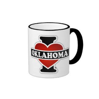 I Heart Oklahoma Ringer Mug