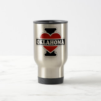 I Heart Oklahoma Stainless Steel Travel Mug