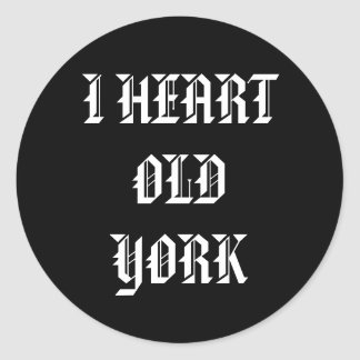 I HEART OLD YORK STICKER
