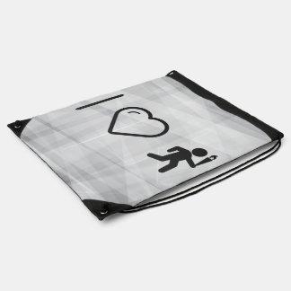 I Heart Olympic Games Drawstring Bag